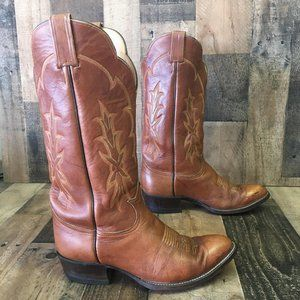 Tony Lama Vtg Gold Label Cowboy Boots Men's 9.5 d